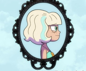 animation, background, and girl image