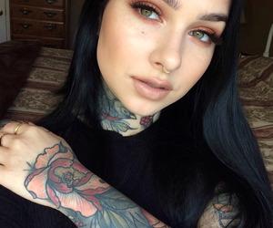 alternative, tattoo, and black hair image