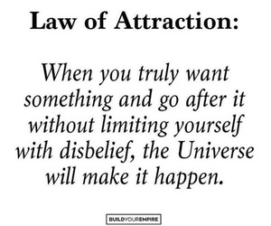 quote, universe, and law of attraction image