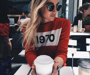red, fashion, and coffee image