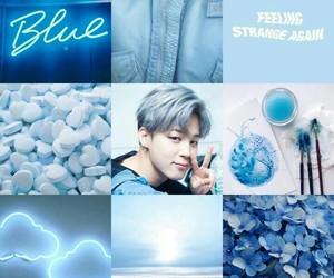 aesthetics, park jimin, and blue image