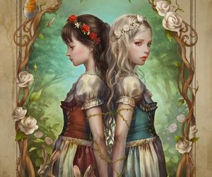 fairy tale, fantasy, and flower+crown image