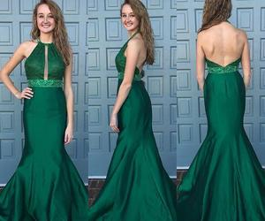 fashion, mermaid prom dresses, and backless evening gowns image