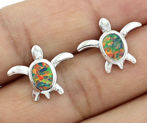 earrings, turtle, and inspireme image
