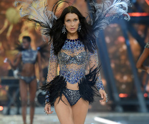 bella hadid and runway image