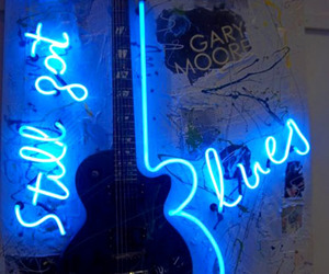 neon, blue, and blues image