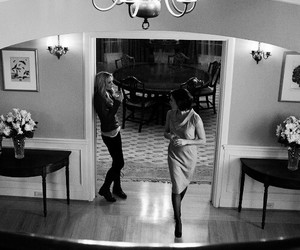 black and white, once upon a time, and swanqueen image