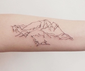 mountain, tatoo, and instagram image