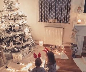 christmas, christmas tree, and kids image