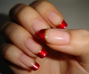 christmas, gold, and nail image