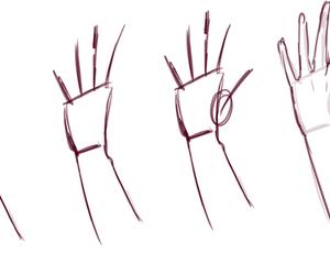 anime, hand, and steps image