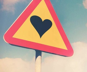 love, sign, and sky image