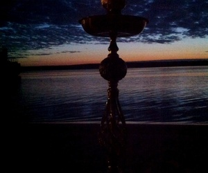 beach, dawn, and hookah image