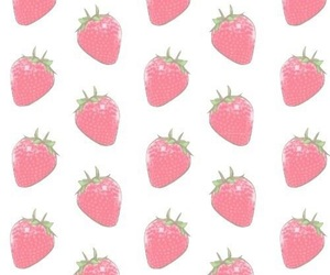 background, strawberry, and loveit image