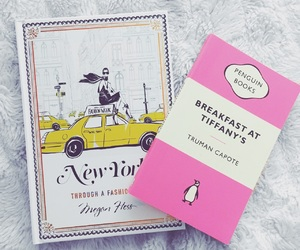 books, rosegold, and Breakfast at Tiffanys image