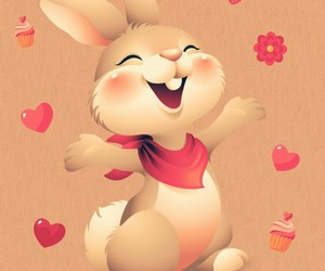 cupcakes, pink, and rabbit image