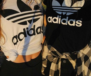 adidas, best friends, and fashion image