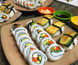 food, 🍣, and sushi image