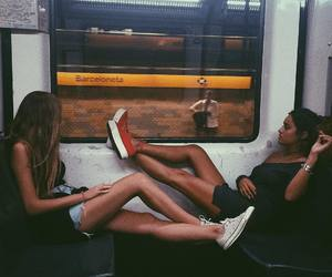 friends, girls, and train image