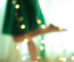 light, dress, and green image