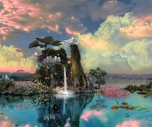 fantasy, nature, and water image