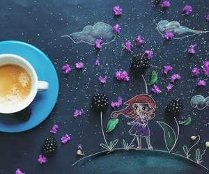 coffee, art, and morning image
