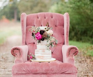 cake, sofa, and pink image