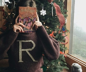 christmas, book, and harry potter image