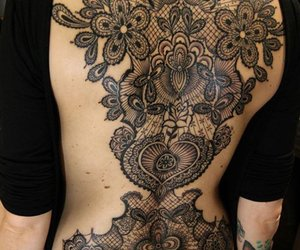 amazing, lacy, and tattoo image