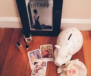 audrey hepburn, flower, and polaroids image