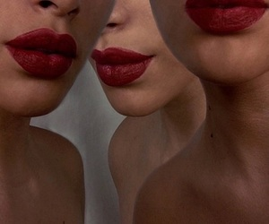 lips, red, and theme image