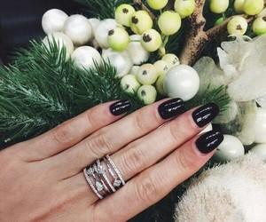 black, manicure, and shine image