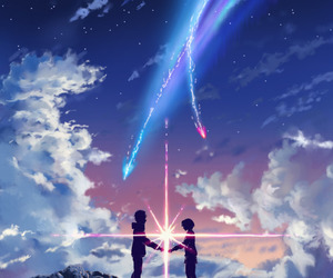 anime, your name, and kimi no na wa image