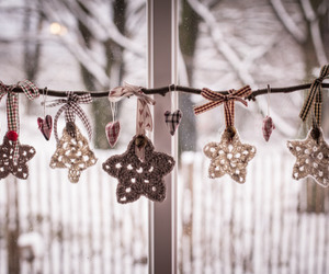 decoration, stars, and winter image