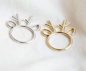 rings, gold, and silver image