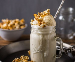 caramel, milkshake, and coffee image