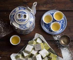 green tea, japanese food, and marshmallow image