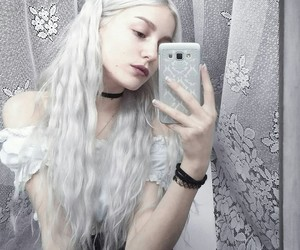 alternative, color hair, and long hair image