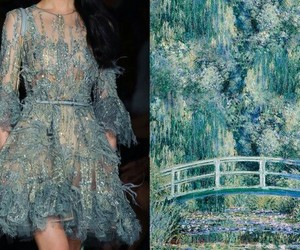 dress, art, and monet image