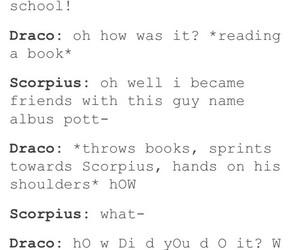 draco malfoy, harry potter, and scorpius malfoy image