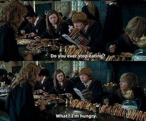 harry potter, ron weasley, and food image