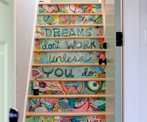 Dream, stairs, and art image