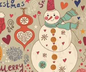 background, snowman, and love image