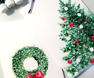 christmas, drawing, and holiday image