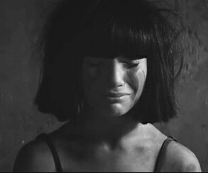 black and white, cry, and music image