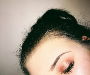 beauty, eyeshadow, and red image