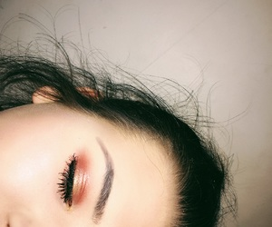beauty, eyebrows, and red image