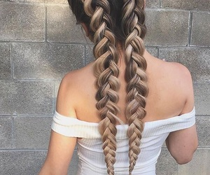 beauty, braided hair, and braids image