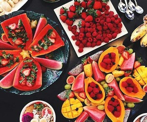love life, fresh fruits, and live healthy image