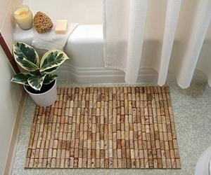 cork, diy, and bathroom image